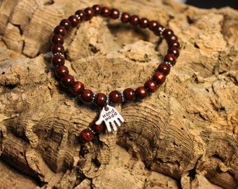 Bracelet with wooden beads