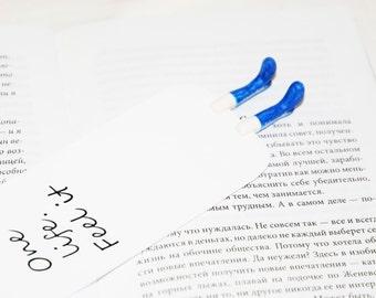 Bookmark - Boots bookmark - Legs bookmark - Blue boots bookmark - Funny bookmark - Personalized bookmark - Custom bookmark - Book markers