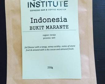 Indonesia Bukit Marante Roasted Coffee Beans 250g