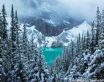 Landscape Photography, Winter Photo, Lake Louise, Winter Print, Winter Download, Landscape Photo, Winter Photography, Landscape Print