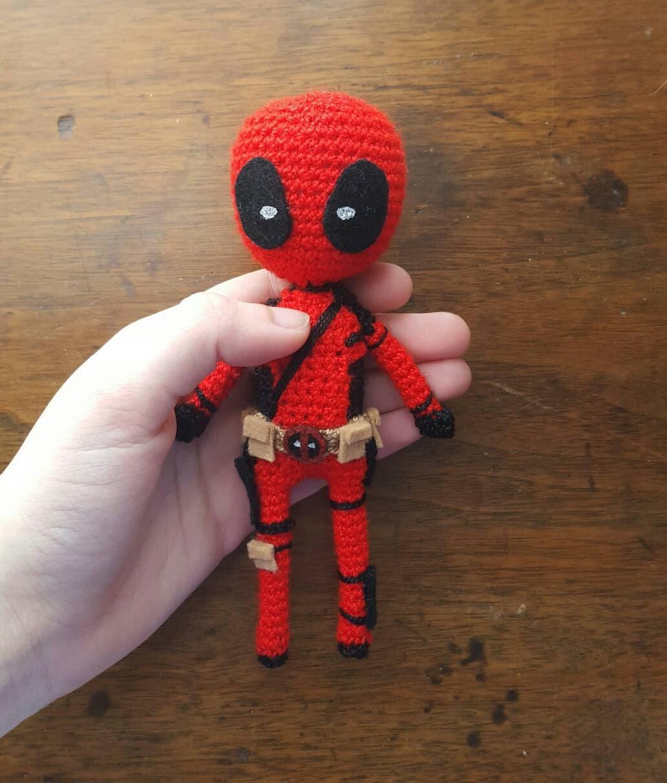 Crochet Wedding Dress Pattern Doll : Deadpool Amigurumi by SjayCrochet on Etsy