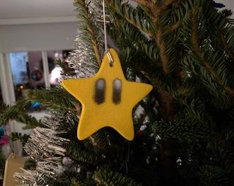 Super Mario Star Ornament (Nintendo Invincibility Star)
