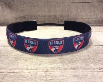 FC Dallas Nonslip Headband, Noslip Headband, Soccer Headband, Sports Headband, Running Headband, Athletic Headband