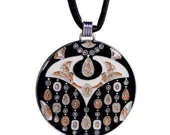 Collar Negro Art Decó ElittBijoux