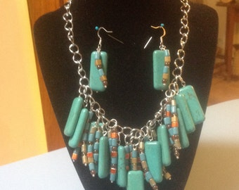 Turquoise Necklace Set
