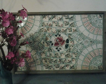 Broken French China Mosaic Tray, Picassiettes Tray, Special Order