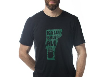 "Vermont ""Kale Bale Ale"" men's super soft blend beer t-shirt"