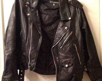 Vintage Hollywood Leather Biker Jacket