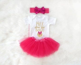 Baby Girl Baseball Game Outfit All About That Base Newborn Glitter Bodysuit Sparkly Shirt Girls Baby Shower Gift Tutu Hot Pink Gold