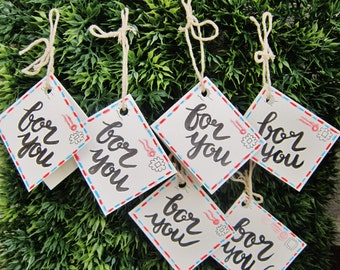 """Watercolour """"For You"""" Gift Tags: Set of 6 (Originals)"""