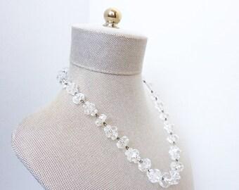 Vintage 1920s Art Deco Rock Crystal Necklace
