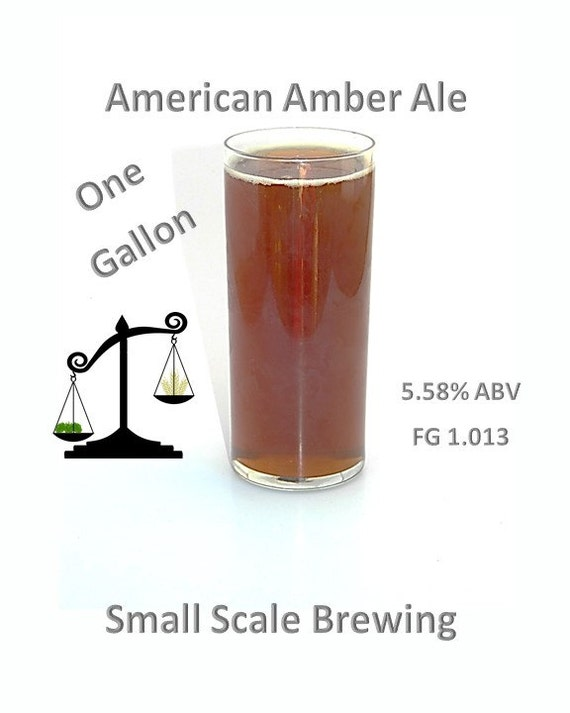 American Amber Ale One Gallon Craft Beer HomeBrew Kit