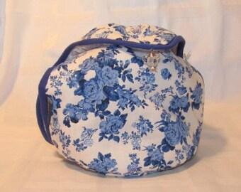 Theemuts Flap Delfts Blauw (rozen)