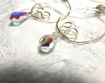 Swarovski Clear Crystal Hoop Earrings