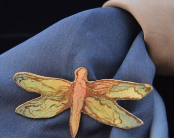 Impressionist Dragonfly Pin