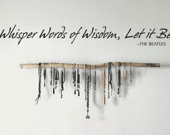 Whisper Words of Wisdom Wall Decal, Inspirational Quote, Removable Vinyl Letters, Multiple Colors, Wall Decor