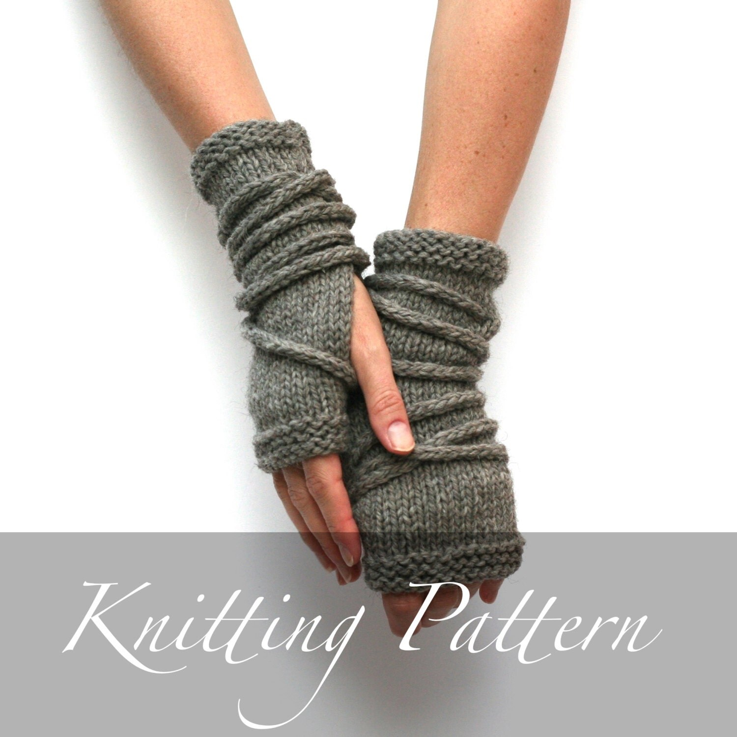 Knitting pattern wrap gauntlets fingerless gloves pattern zoom bankloansurffo Choice Image