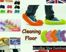 1 Pair Dust Cleaner Slippers Shoe Cover Mop Cloth Bathroom Floor Cleaning UK Seller