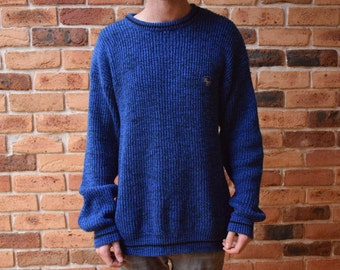 Vintage Blue and Black Sweater