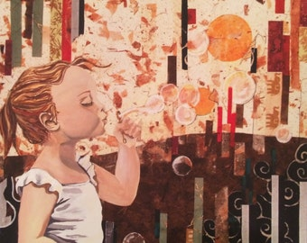 Blowing Bubbles - Print