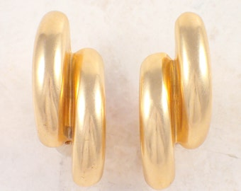 14K Yellow Gold Retro Earrings