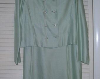 Vintage Mint Green Two Piece Size 12 dress/jacket