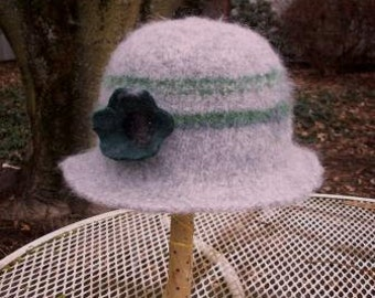 Knitted Felted Hat