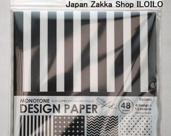 Japanese ORIGAMI paper Monotone Stylish Pattern
