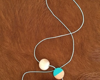 Flamingo Wooden Necklace