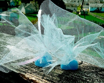 Tulle Wrapped Heart Shape Soap Favors