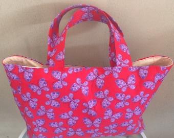 Overnight tote bag, boho, pink, shopping bag
