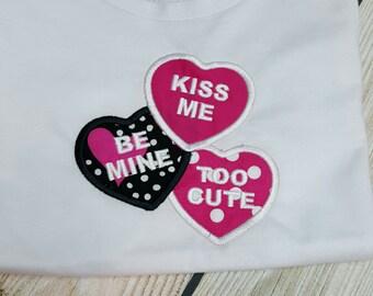 Valentine Hearts tshirts