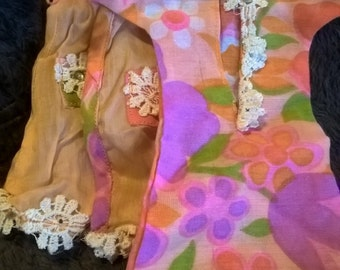 Vintage 1960's handmade groovy Barbie nightgown and robe
