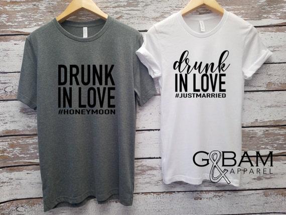 Honeymoon shirts!  Drunk in love / Mr. and Mrs. Shirts / Bride & Groom Shirts Unisex T-shirt / Groom shirt/ Bride Shirt / Future MR and MRS