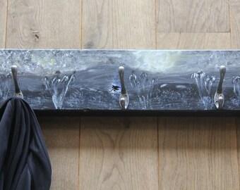 Hand painted Coat Rack