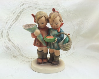 Hummel Figurine, Going to Grandma's, Hummel Girl Figurines, Mother's Day, Girls with Flowers, Girls with Basket, Hummel Collector Gift