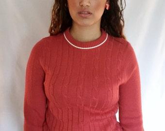 1970s Talbott Taralan Cinnamon Red Sweater