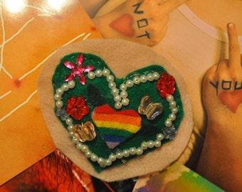 Gay Pride Pin/Patch (plus a positivity poem!)