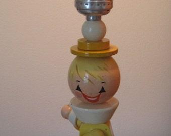 Nursery LAMP, Baby's Room Lamp, Wood, Vintage