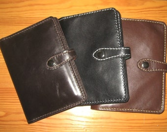 A6 leather travel wallet, leather journal, leather notebook, unisex
