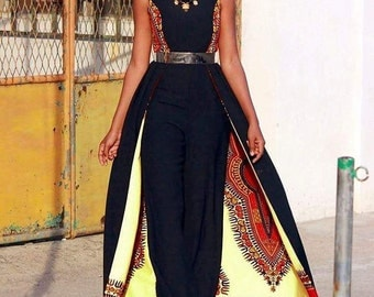 Combo African Jumpsuit