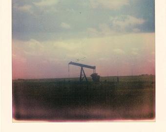 Pumpjack - Kansas 2015 [Polaroid Enlargement]