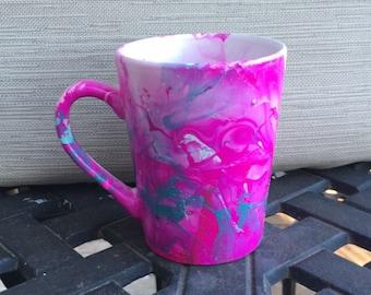 Handmade Watercolor Decorative Mug
