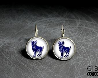 Aries Earrings Zodiac Aries Earrings Zodiac Jewelry Aries Zodiac Earrings Aries Zodiac Dangles Aries Jewelry Zodiac Earring Dangles Jewelry