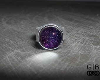 Purple Star Ring Stardust Rings Jewelry - Stardust Ring Jewelry - Purple Jewelry Ring Adjustable Purple Stardust Ring - Purple Ring Jewelry