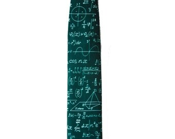 Skinny tie mathematics - math gift - mens necktie