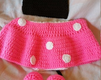 Minnie Mouse Baby Outfit Crocheted