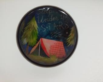 ring ajutable memories of vacation camping night stars