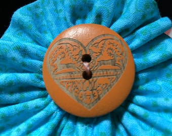 Heart Fabric Cuff Bracelet