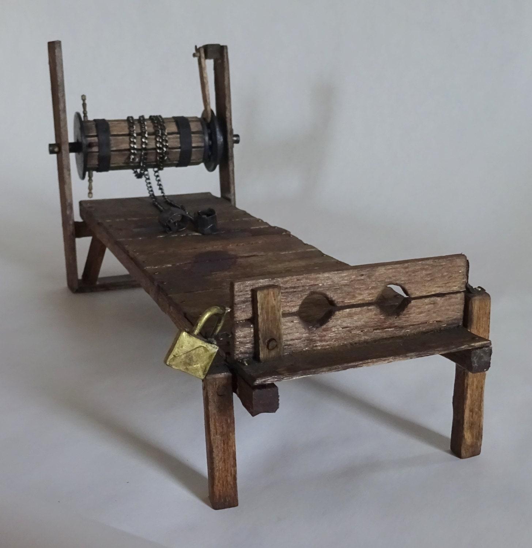 Dollhouse Miniature Wooden Torture Rack 1 12 Scale Castle